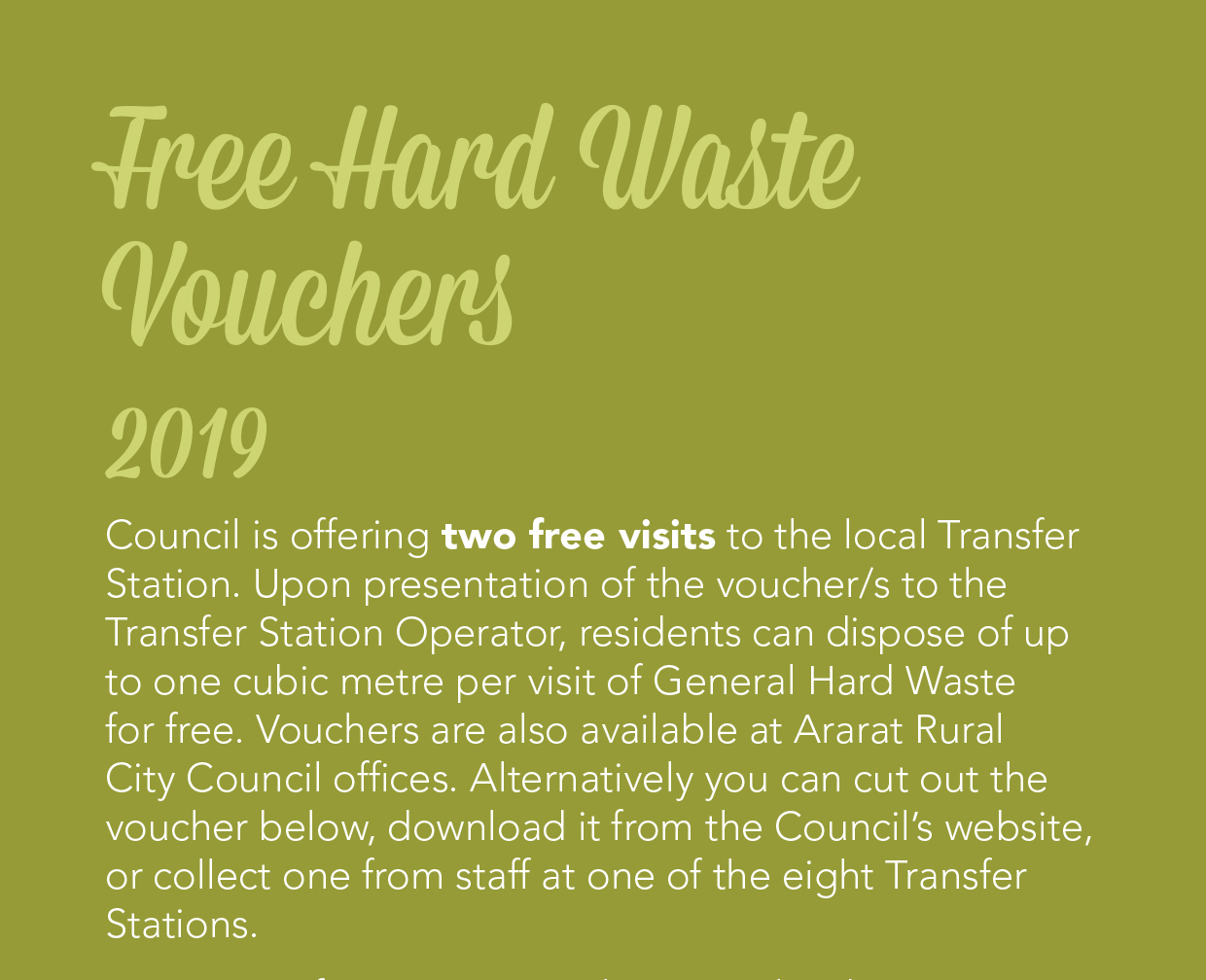 Free waste voucher now available