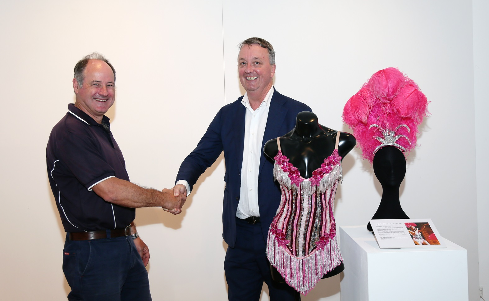 Ararat Rural City Council Mayor Paul Hooper and Minister for Creative Industries Martin Foley