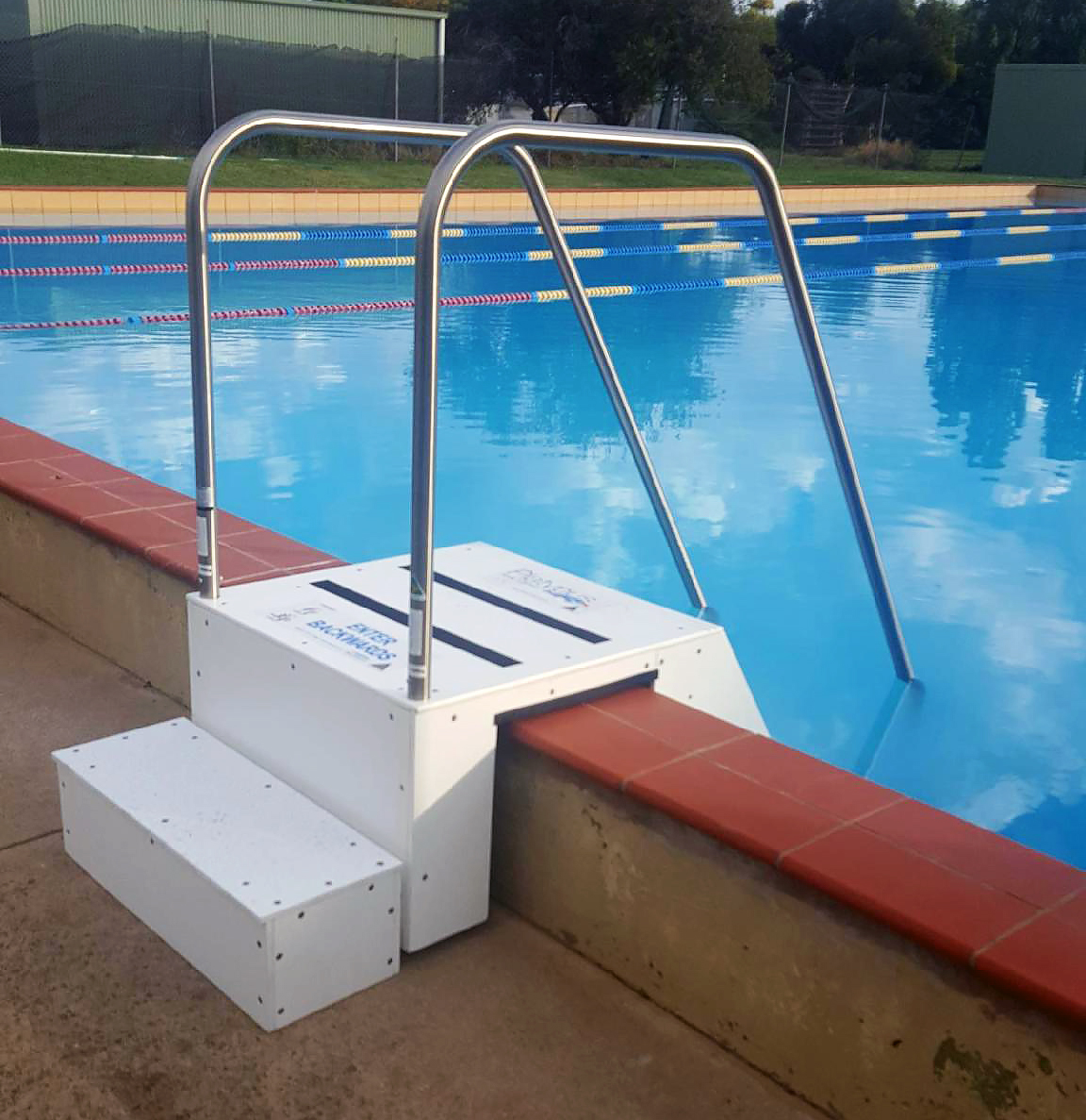 The new steps at the Peter O'Rorke Memorial Lake Bolac Pool.