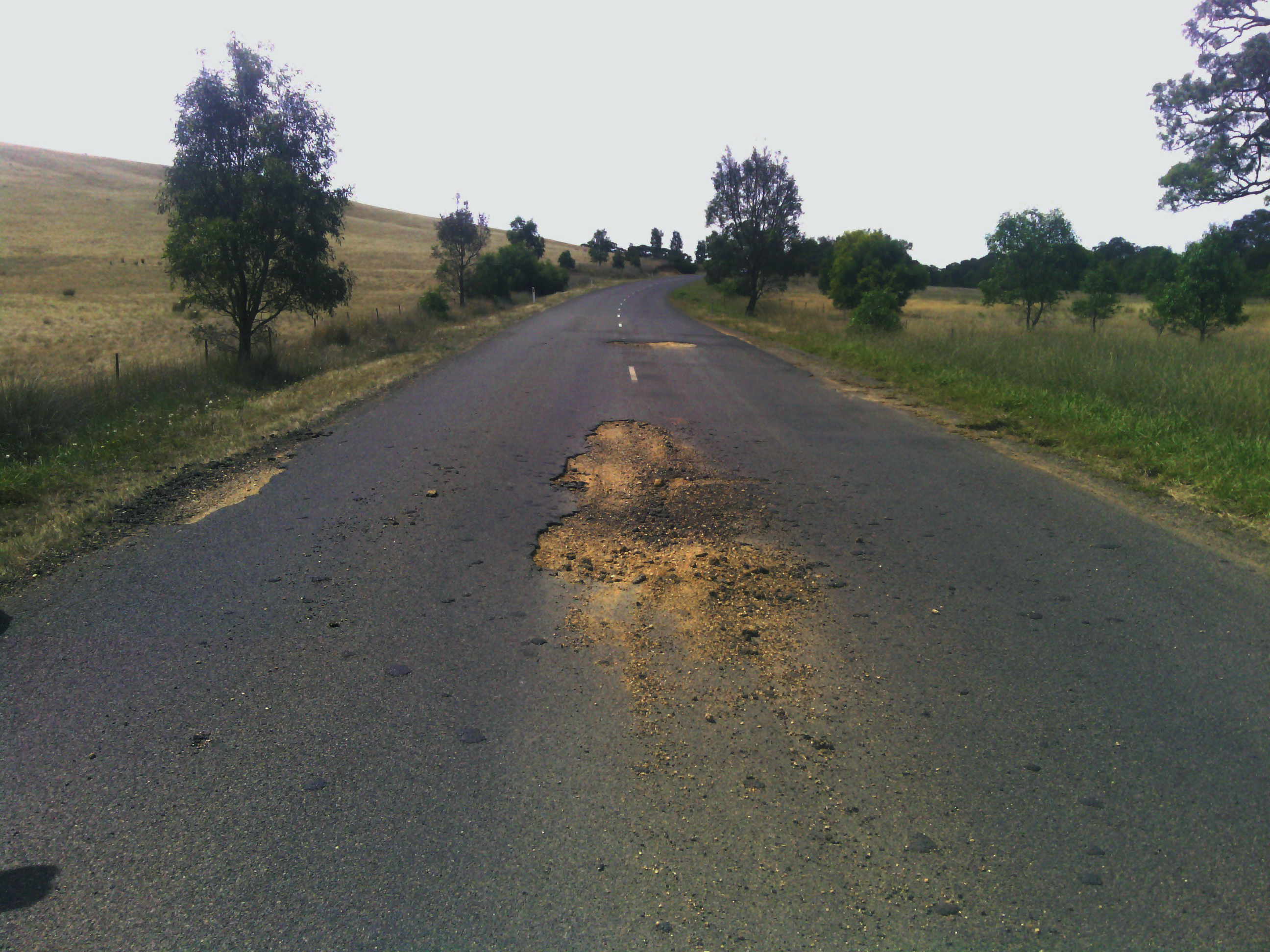 Repair to damaged roads