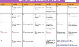 Ararat Active April Calendar of Activities 2019